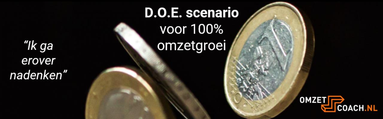 D.O.E. scenario voor 100% omzetgroei